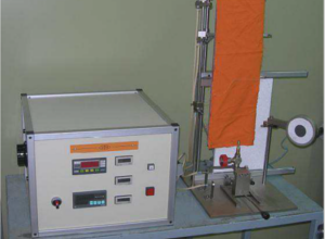 Drapery equipments for tests of reaction to the fire of Ineltec according to the UNE EN 13772 standards